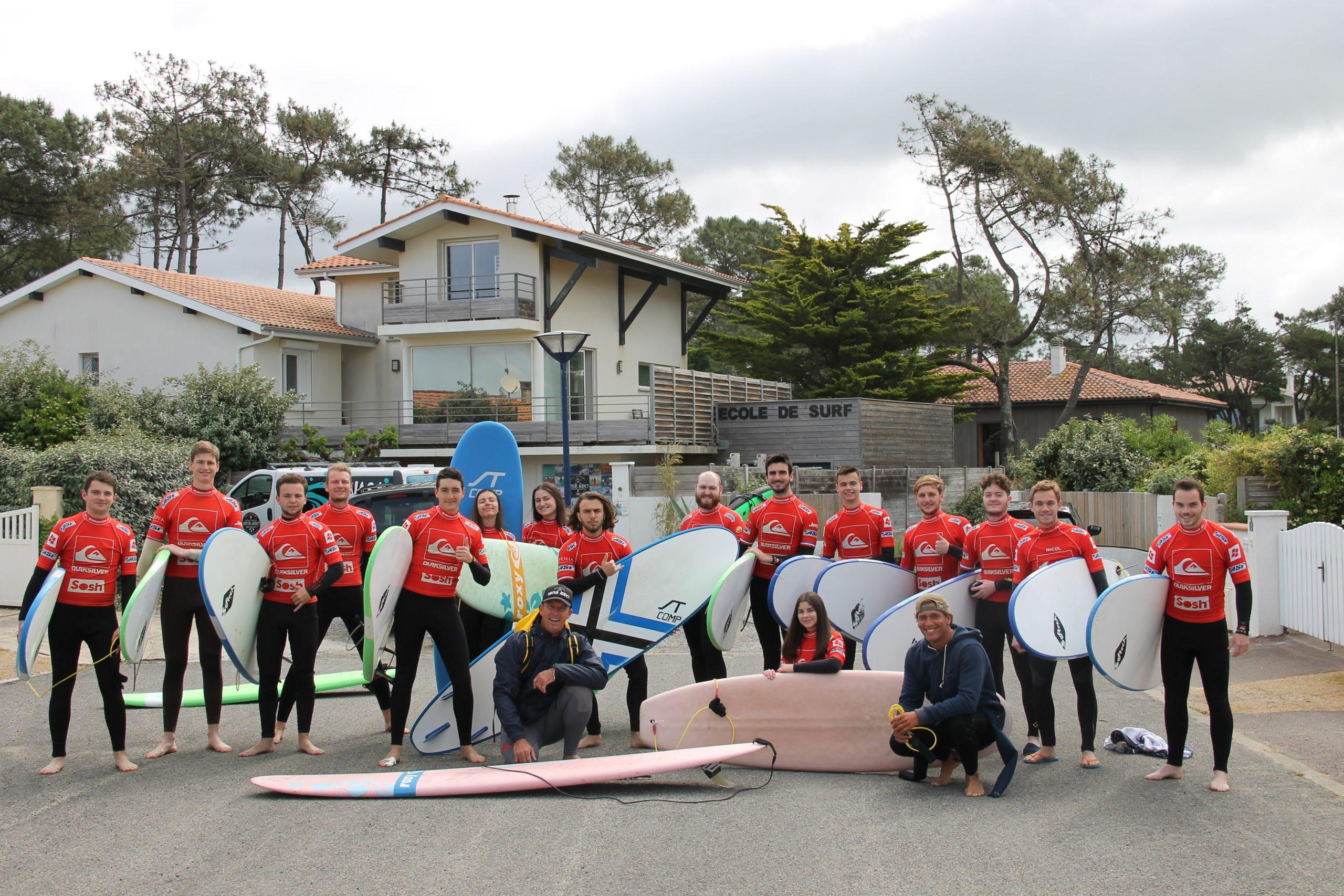 Journée d'initiation au surf pour les élèves ingénieurs