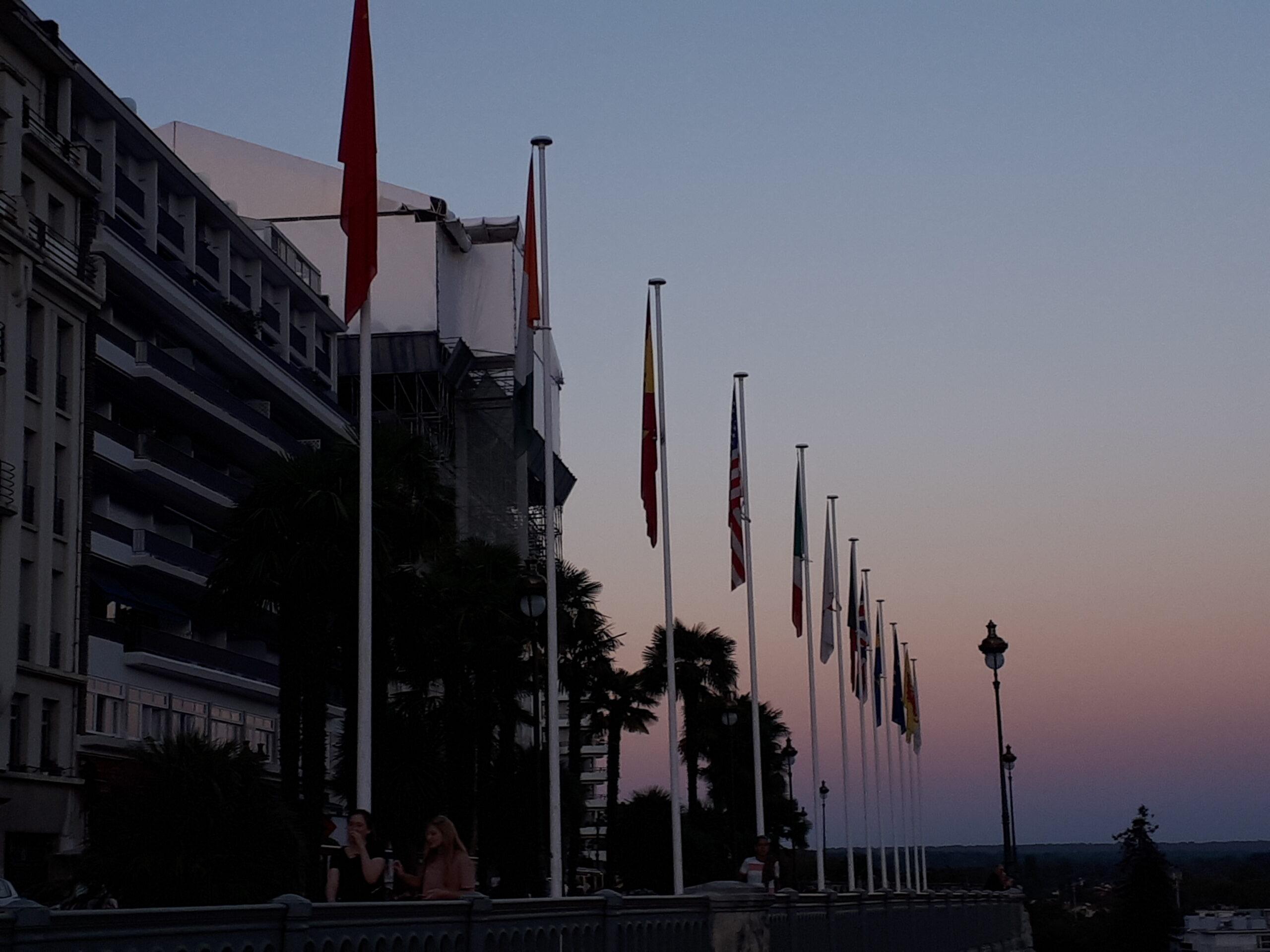Pau Le boulevard des Pyrénées à l'aube