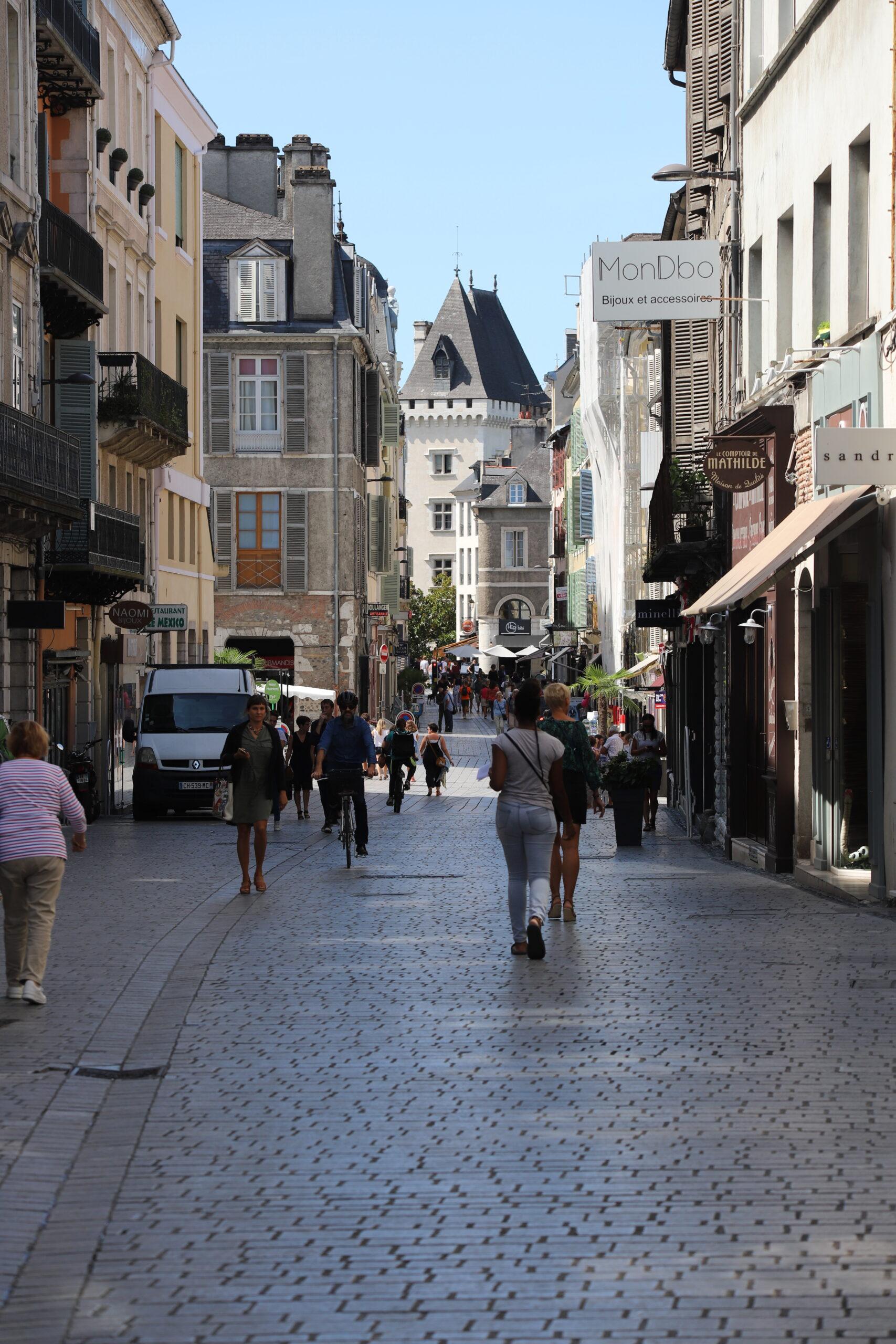 Rue piétonne à Pau